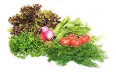 Groenten, witte achtergrond Stock Foto