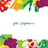 Groentenkader Kleurrijke achtergrond Vector illustratie Vers vegetarisch voedsel vector illustratie