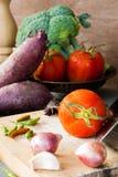 Groentenstilleven royalty-vrije stock afbeeldingen
