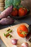 Groentenstilleven stock afbeeldingen
