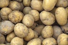 Groep aardappels op een markt Stock Foto