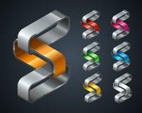 Groep Abstract emblemenontwerp Royalty-vrije Stock Afbeelding