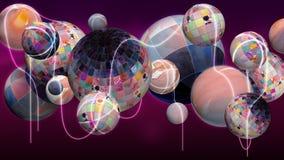 Groep abstracte planeten stock illustratie