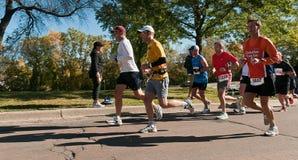 Groep Agenten - Marathon van 2010 de TweelingSteden Stock Afbeelding