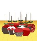 Groep appelsuikergoed voor Kerstmis Royalty-vrije Stock Foto