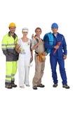 Groep arbeiders stock foto's