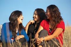 Groep Aziatische meisjes Royalty-vrije Stock Afbeeldingen