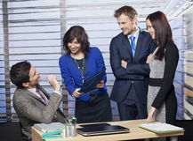 Groep bedrijfsmensen Stock Foto's