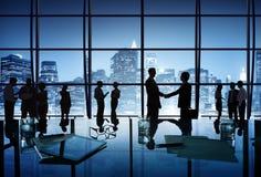 Groep Bedrijfsmensen in de Stad van New York Stock Fotografie