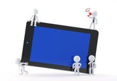 Groep bedrijfsmensen die tablet gebruiken vector illustratie