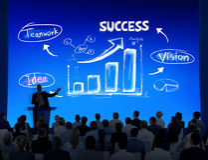 Groep Bedrijfsmensen met Presentatieconcept Royalty-vrije Stock Foto
