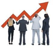 Groep Bedrijfsmensen op Economisch Herstel Royalty-vrije Stock Afbeeldingen