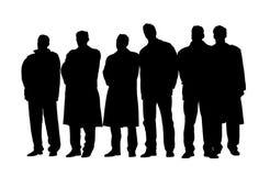 Groep bedrijfsmensen op een vergadering vector illustratie