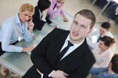 Groep bedrijfsmensen op vergadering Stock Afbeelding