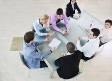 Groep bedrijfsmensen op vergadering Stock Foto's