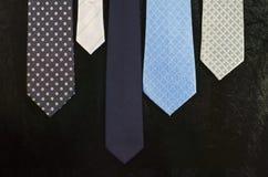 Groep blauwe stropdas Royalty-vrije Stock Fotografie