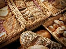 Groep broodproducten stock afbeeldingen