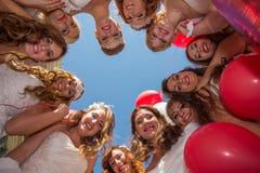 Groep bruiden Stock Foto