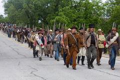 Groep Burgeroorlog Reenactors stock afbeeldingen