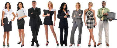 Groep businesspeople status Royalty-vrije Stock Afbeelding