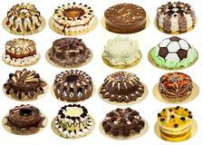 Groep cakes Royalty-vrije Stock Foto's