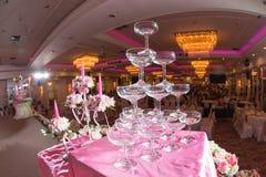 Groep Champagne-glazen Royalty-vrije Stock Foto