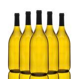 Groep Chardonnay de Flessen van de Wijn Stock Afbeeldingen