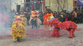 Groep Chinese Leeuwen stock videobeelden