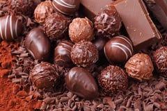 Groep chocolade Stock Foto's