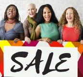 Groep Concept van de de Bevorderings het Speciale Korting van de Vrouwenverkoop Royalty-vrije Stock Afbeelding