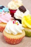 Groep cupcakes. Stock Afbeeldingen