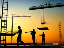 Groep de arbeiders stock illustratie