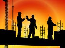 Groep de arbeiders vector illustratie