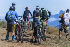 Groep de fietsers van de bergfiets Royalty-vrije Stock Afbeelding