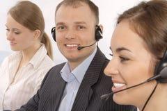 Groep de klantendienst representativ Stock Foto