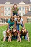 Groep de Meisjes van de Universiteit Stock Afbeeldingen