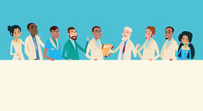 Groep de Middelbanner van Artsenteam clinic stuff hospital hold royalty-vrije illustratie