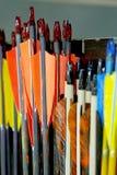 Groep de pijlen van de sportbout in rij Royalty-vrije Stock Foto's