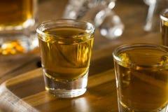 Groep de Schoten van de Bourbonwhisky stock afbeelding