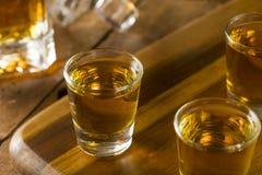 Groep de Schoten van de Bourbonwhisky stock foto's