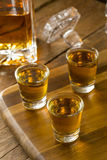 Groep de Schoten van de Bourbonwhisky royalty-vrije stock afbeelding