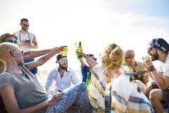 Groep die Mensen Samenhorigheidsconcept drinken stock afbeeldingen