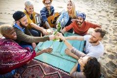 Groep die Mensen Samenhorigheidsconcept drinken stock afbeelding