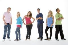 Groep die van Tieners is ontsproten Stock Afbeelding