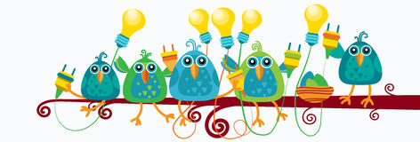 Groep die Vogels op van de de Contactdoos Gloeilamp van de Takgreep Nieuw het Ideeconcept vlak zitten royalty-vrije illustratie