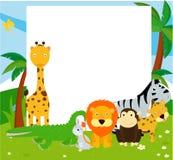 Groep dieren en kader royalty-vrije illustratie