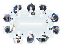 Groep Diverse Bedrijfsmensen in een Vergadering stock afbeeldingen