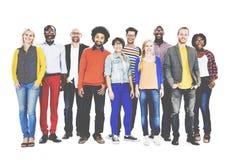 Groep Diverse Mensen die zich Concept verenigen Stock Foto