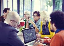 Groep Diverse Vrolijke Bedrijfsmensen Stock Afbeelding