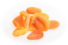 Groep droge abrikozen Stock Foto's